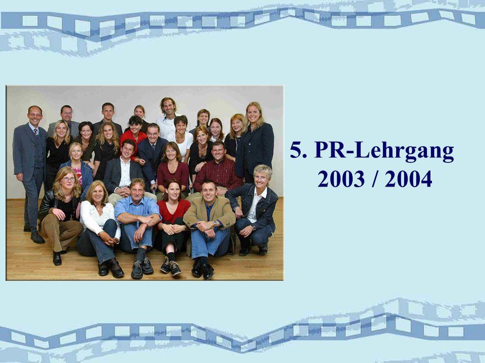 5. PR-Lehrgang 2003 / 2004
