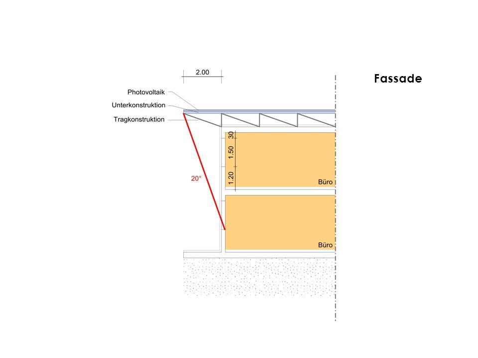 Elektrische Leistung aus Photovoltaik Pv = 3264 m² x 170 W/m² x 0.9 499.392 kW Kühllastberechnung