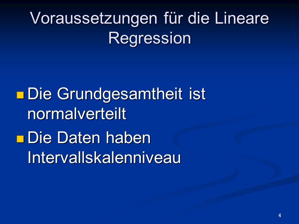 5 Definition Regression bezeichnet die Art des Zusammenhangs zwischen zwei Variablen.