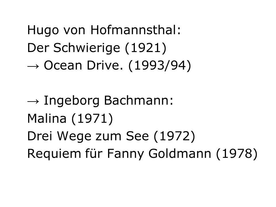 1967: Szene aus Hugo von Hofmannsthals Der Schwierige mit O.W.