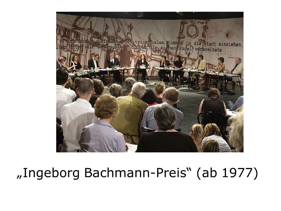 Ingeborg Bachmann-Preis (ab 1977)