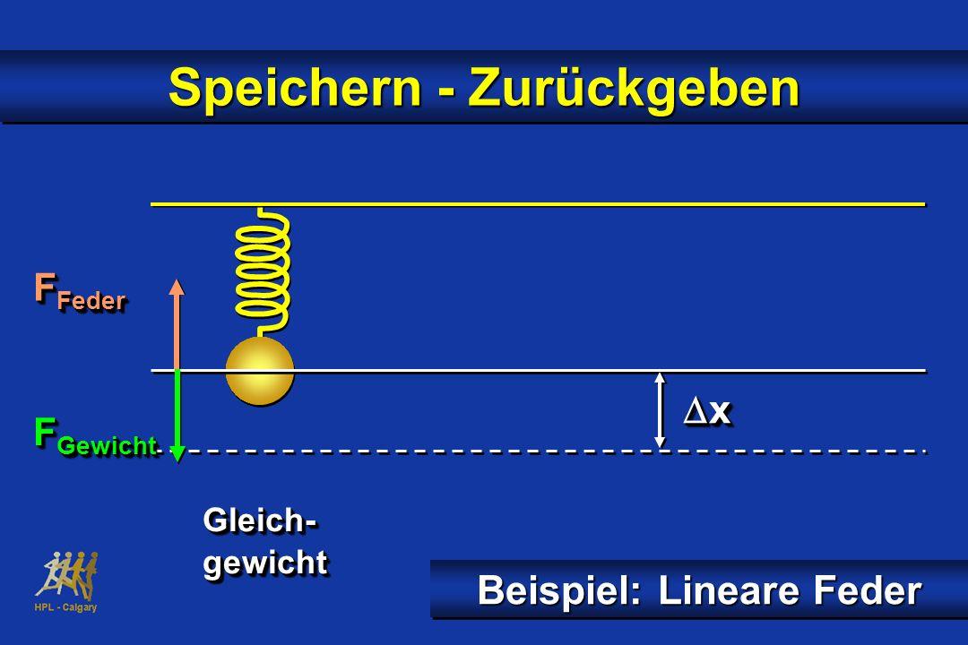 Speichern - Zurückgeben Beispiel: Lineare Feder x x Gleich-gewichtGleich-gewicht F Feder F Gewicht