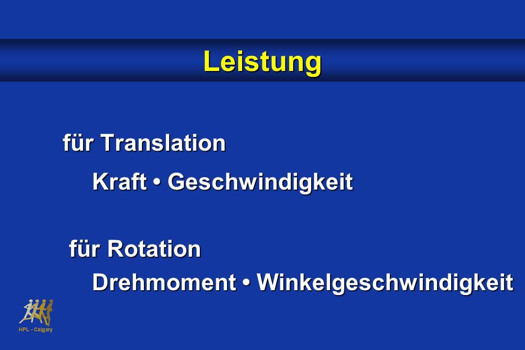 für Translation Kraft Geschwindigkeit für Rotation für Rotation Drehmoment Winkelgeschwindigkeit Leistung