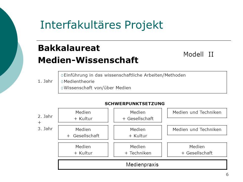6 Interfakultäres Projekt Bakkalaureat Medien-Wissenschaft 1.