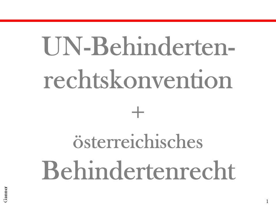 1 Ganner UN-Behinderten- rechtskonvention + österreichisches Behindertenrecht