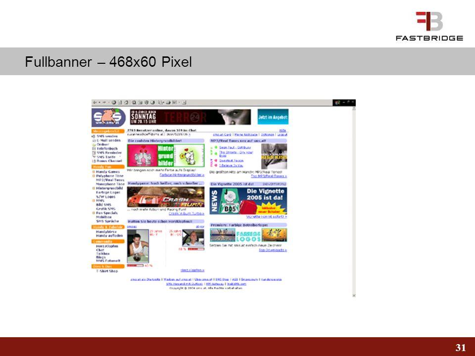 31 Fullbanner – 468x60 Pixel