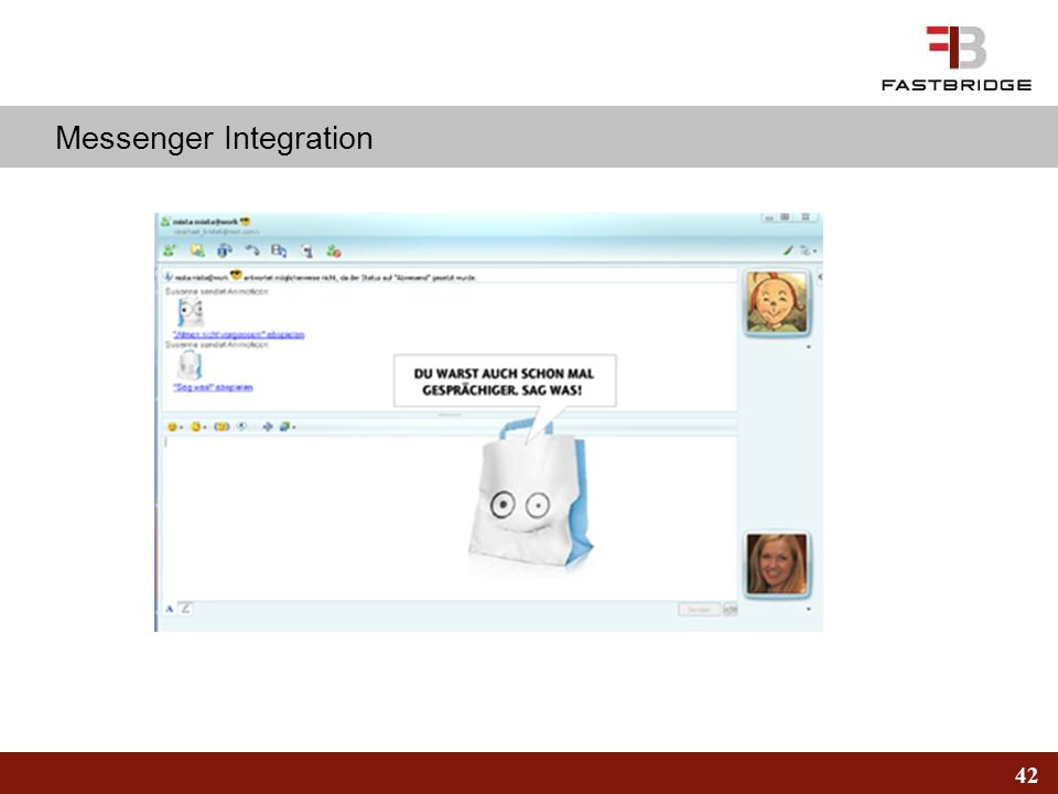 42 Messenger Integration