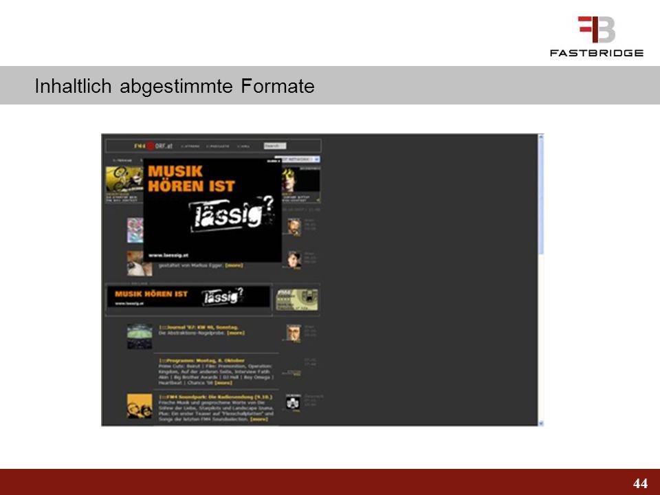 44 Inhaltlich abgestimmte Formate