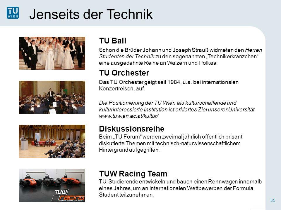 Jenseits der Technik TU Ball Schon die Brüder Johann und Joseph Strauß widmeten den Herren Studenten der Technik zu den sogenannten Technikerkränzchen eine ausgedehnte Reihe an Walzern und Polkas.