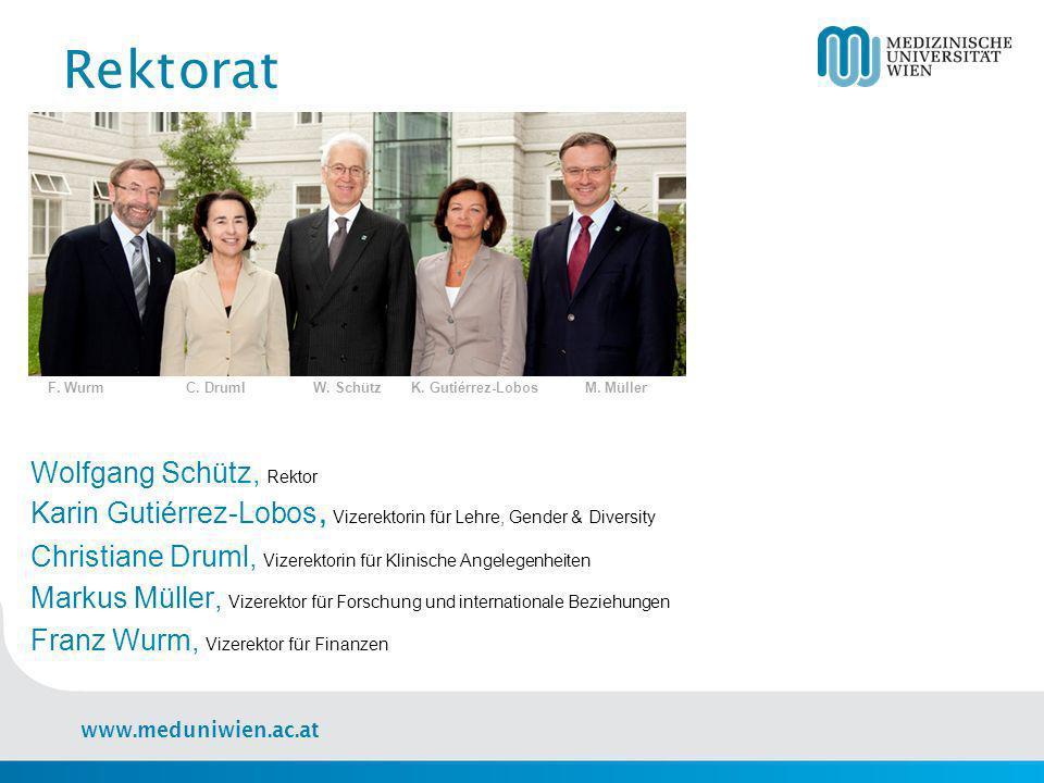 www.meduniwien.ac.at Forschung Lehre Klinik Triple Track Strategie