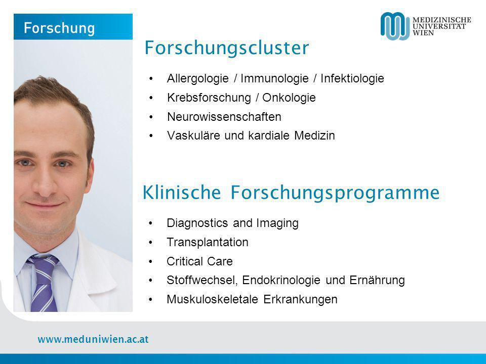 www.meduniwien.ac.at Wissenschaftliche Publikationen 13 medizin-theoretische Zentren und Departments