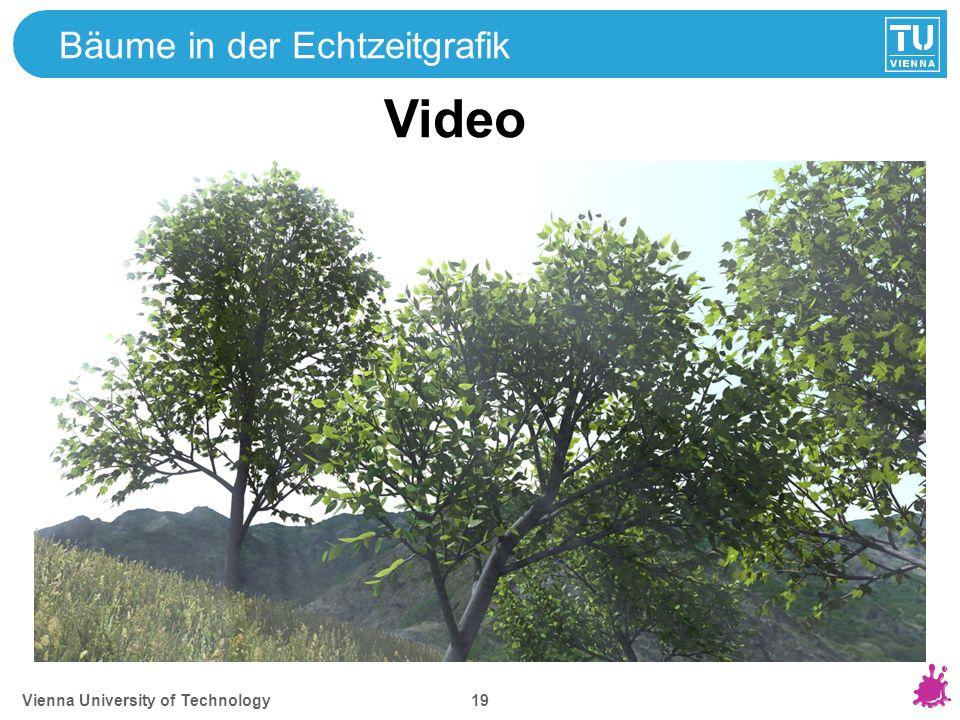 Vienna University of Technology 19 Bäume in der Echtzeitgrafik Video