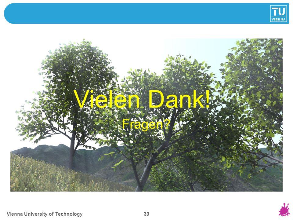 Vienna University of Technology 30 Vielen Dank! Fragen?