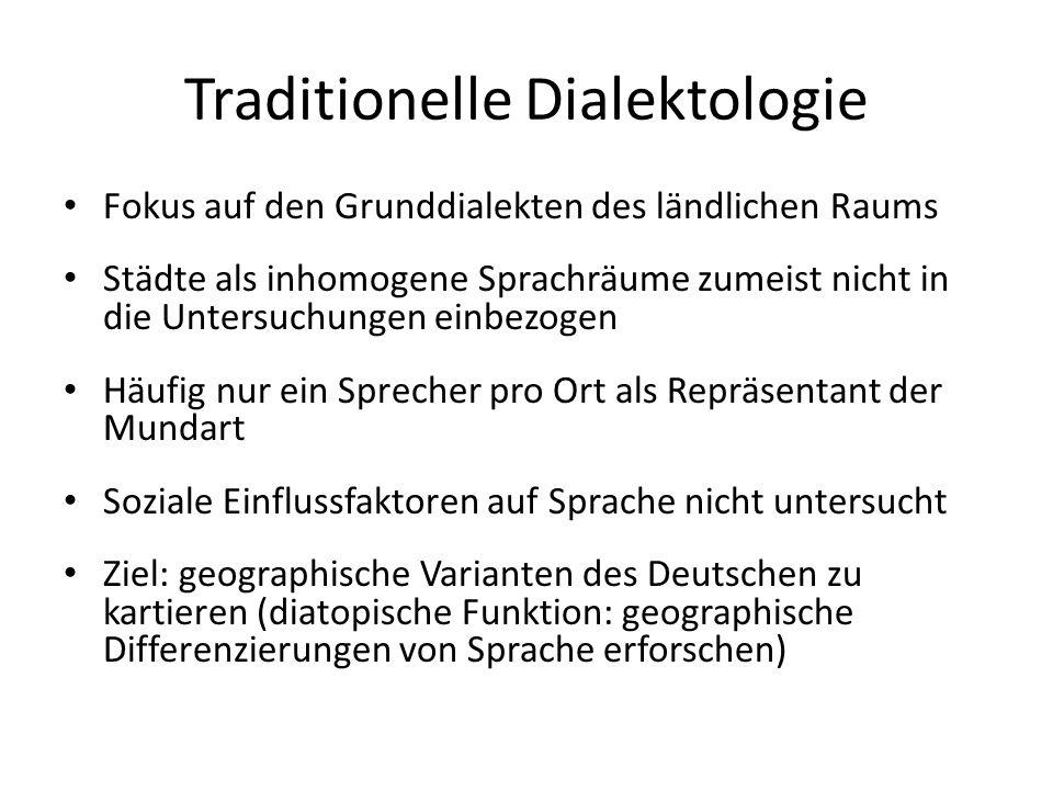Georg Wenker Pionierarbeit in der traditionellen Dialektologie (letztes Viertel d.