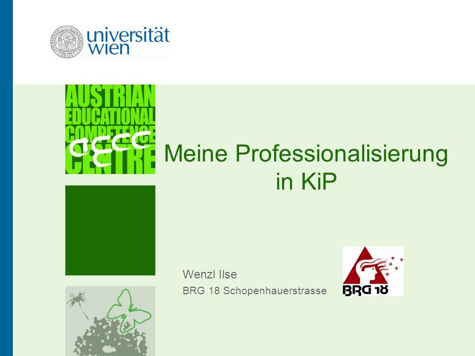 Meine Professionalisierung in KiP Wenzl Ilse BRG 18 Schopenhauerstrasse