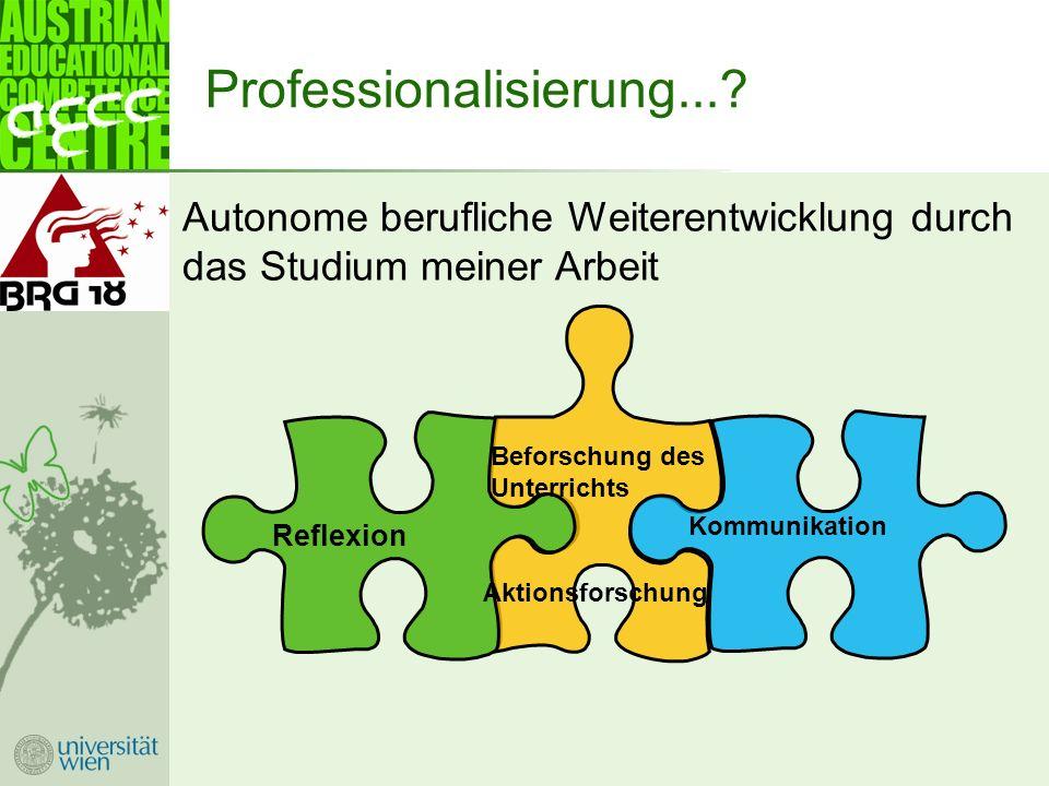 Professionalisierung....