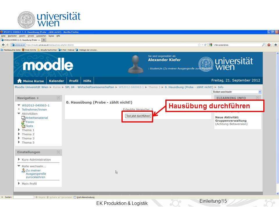 EK Produktion & Logistik Einleitung/15 Hausübung durchführen
