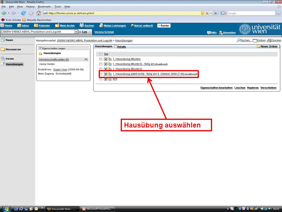 EK Produktion & Logistik Einleitung/16 EK Produktion & LogistikEinleitung/16 Hausübung auswählen