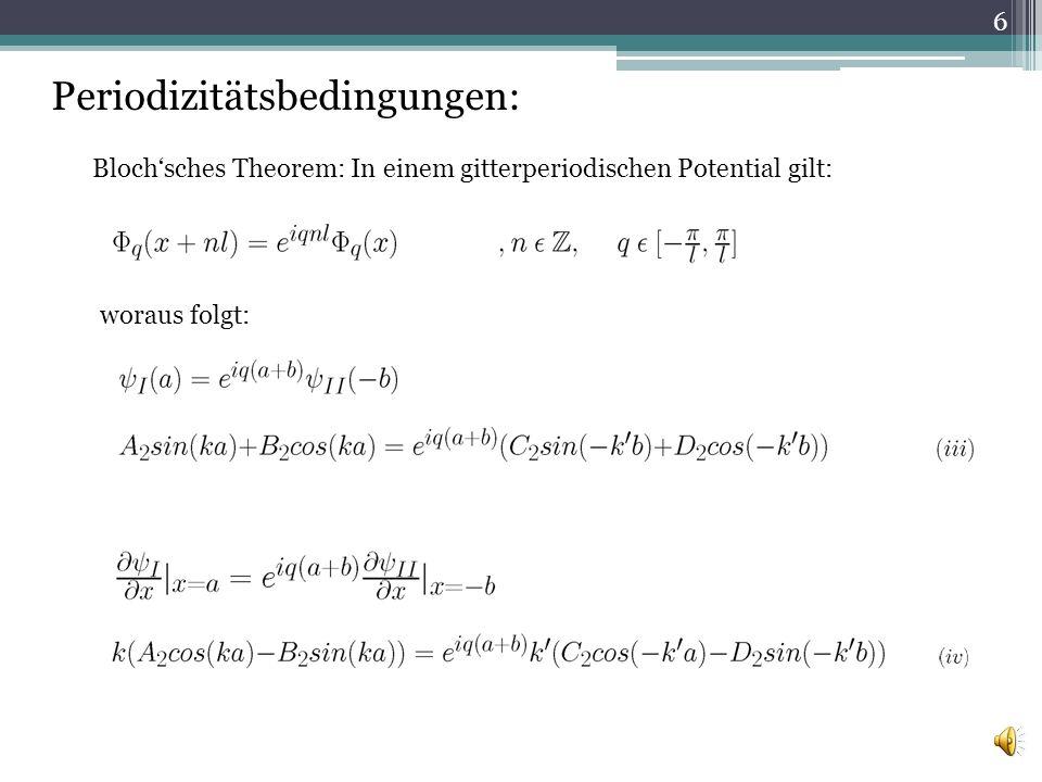 (i) und (ii) in (iii) und (iv) einsetzen ergibt: 7