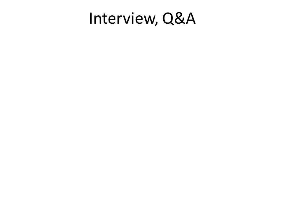 Interview, Q&A