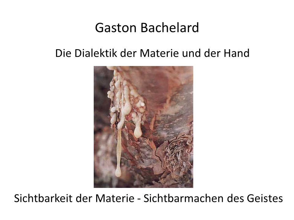 Gaston Bachelard Die Dialektik der Materie und der Hand Sichtbarkeit der Materie - Sichtbarmachen des Geistes