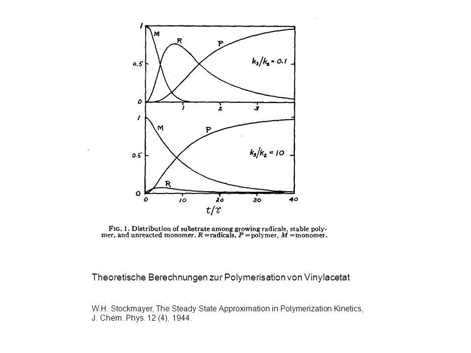 Theoretische Berechnungen zur Polymerisation von Vinylacetat W.H. Stockmayer, The Steady State Approximation in Polymerization Kinetics, J. Chem. Phys