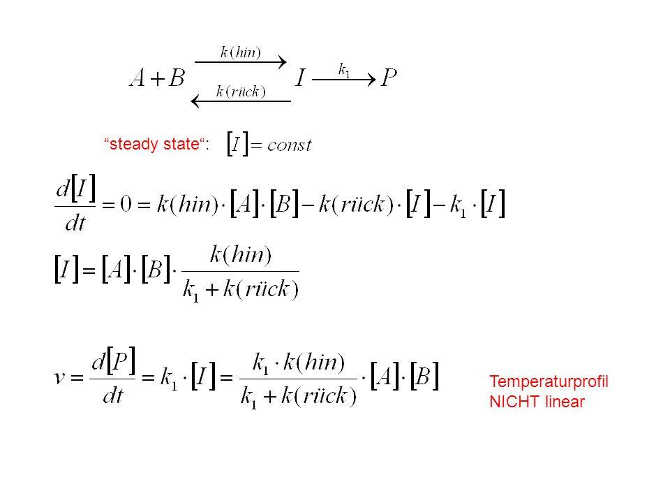steady state: Temperaturprofil NICHT linear