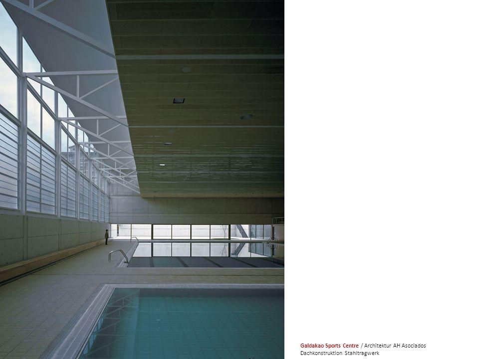 HB2 Galdakao Sports Centre / Architektur AH Asociados Dachkonstruktion Stahltragwerk