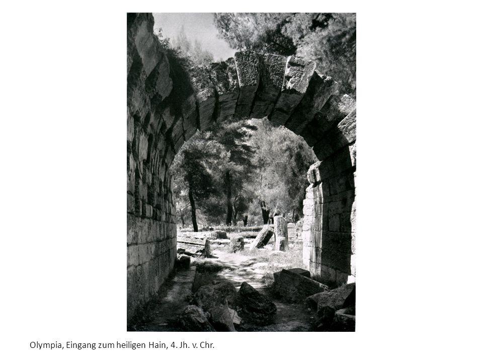 Olympia, Eingang zum heiligen Hain, 4. Jh. v. Chr.