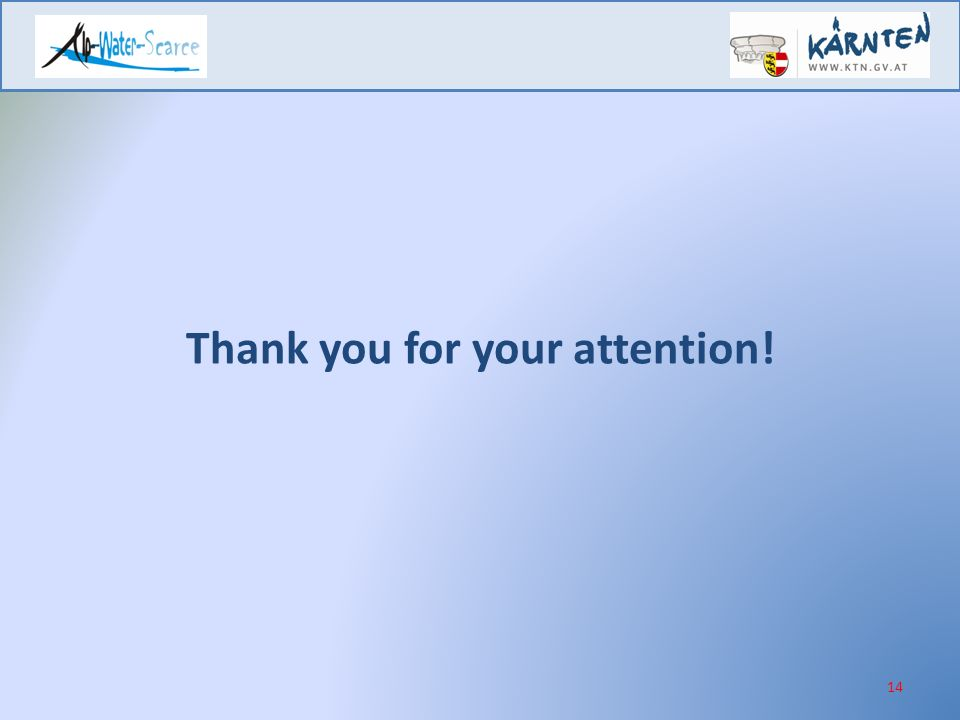 14 Thank you for your attention!