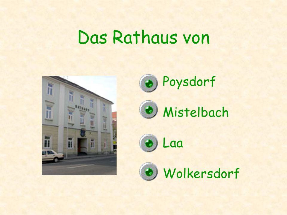 Das Rathaus von Poysdorf Mistelbach Laa Wolkersdorf