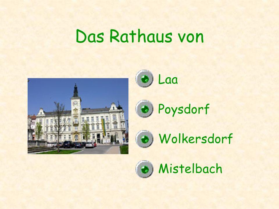 Das Rathaus von Laa Poysdorf Wolkersdorf Mistelbach