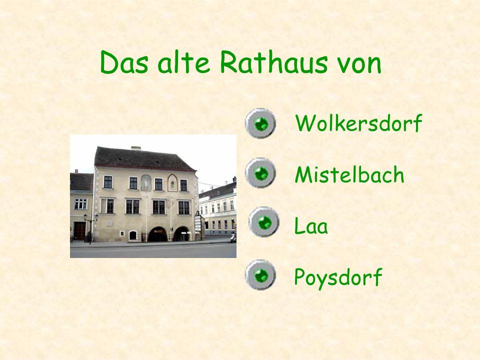 Das alte Rathaus von Wolkersdorf Mistelbach Laa Poysdorf