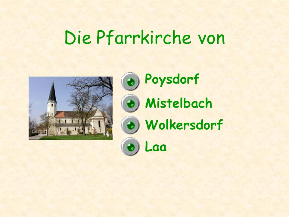 Die Pfarrkirche von Wolkersdorf Poysdorf Laa Mistelbach