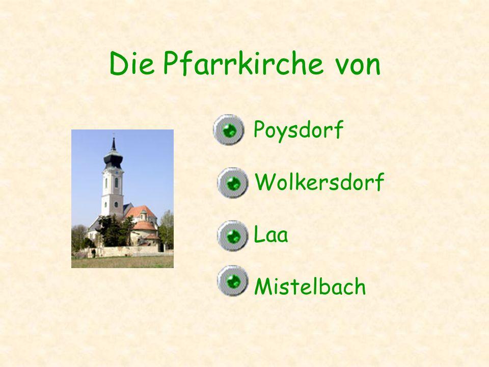 Die Pfarrkirche von Poysdorf Wolkersdorf Laa Mistelbach