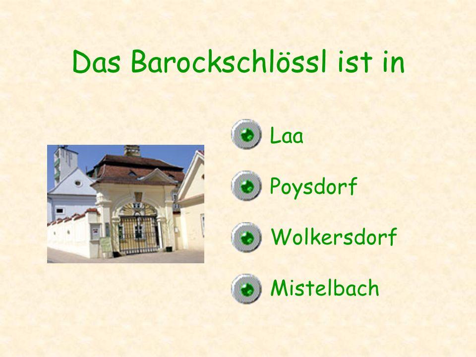 Das Barockschlössl ist in Laa Poysdorf Wolkersdorf Mistelbach