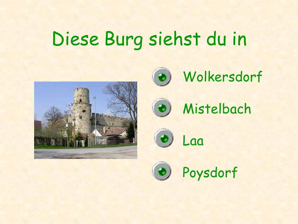 Diese Burg siehst du in Wolkersdorf Mistelbach Laa Poysdorf