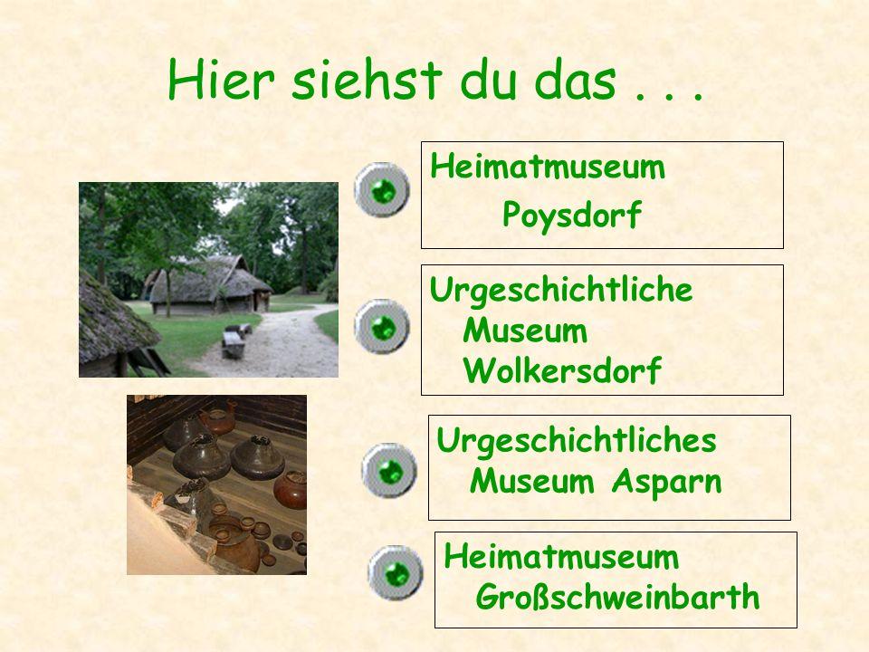 Das Dorfmuseum ist in Poysdorf Wolkersdorf Niedersulz Asparn