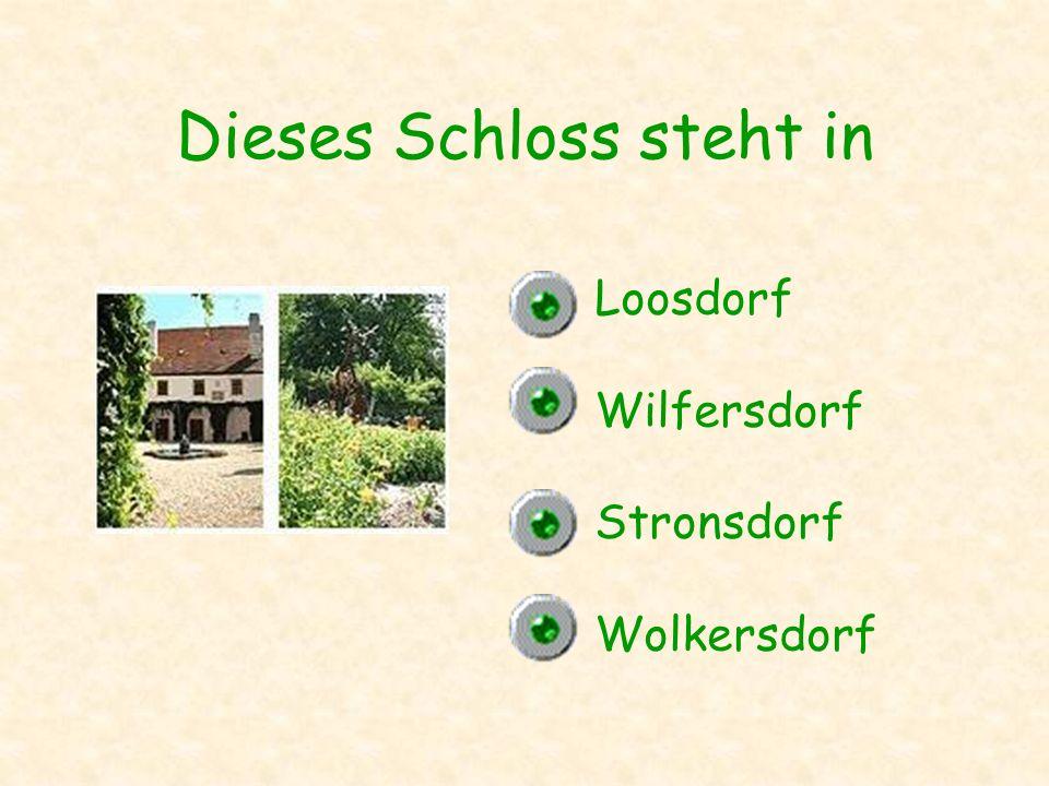 Dieses Schloss steht in Loosdorf Wilfersdorf Stronsdorf Wolkersdorf