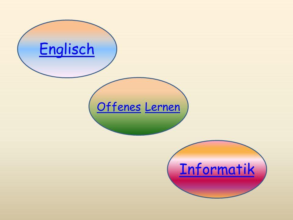 Englisch EAA (Englisch als Arbeitssprache) in allen 4 Schulstufen Einsatz von einem native speaker Einsatz der englischen Sprache mit neuen Medien English songs and games (2., 3.