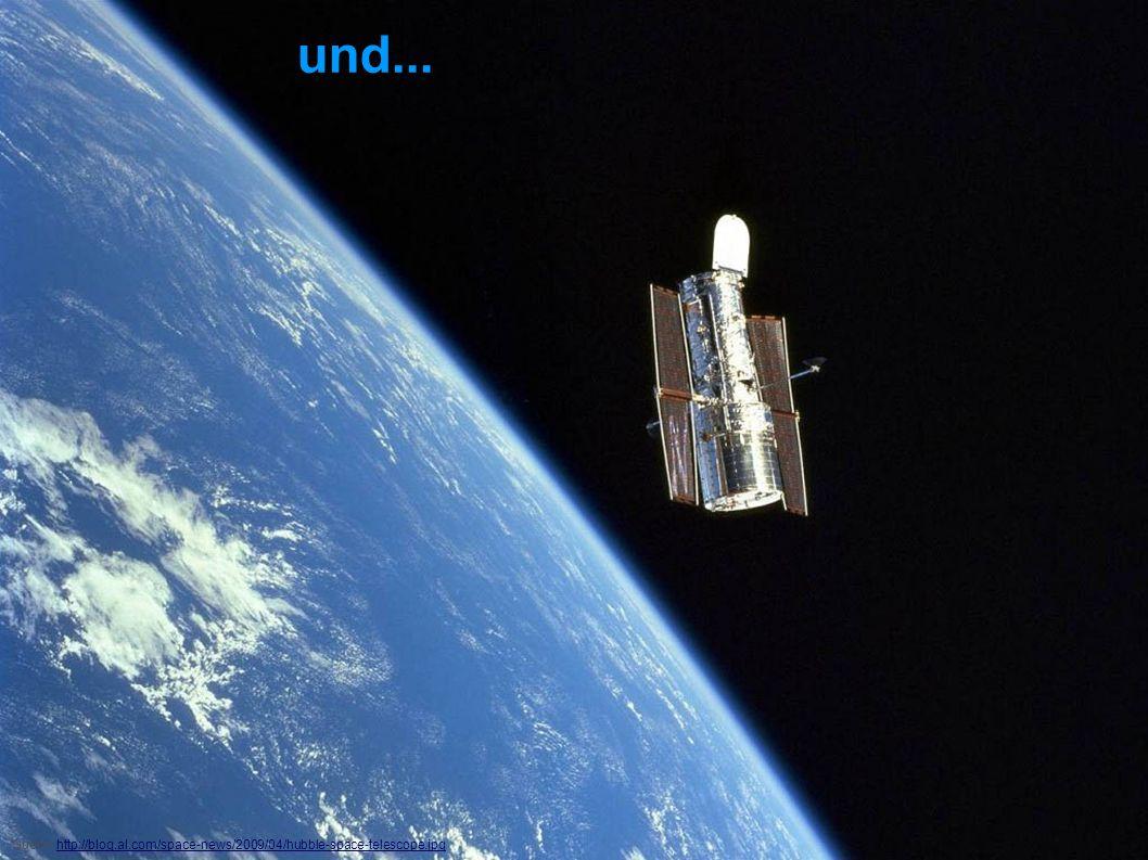 Galaxien beobachten Wie können Galaxien noch beobachtet werden? Quelle: http://blog.al.com/space-news/2009/04/hubble-space-telescope.jpghttp://blog.al