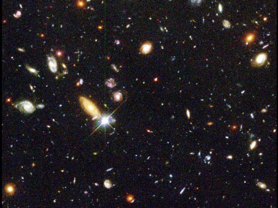 Die Galaxienflucht 1929 Edwin Hubble entdeckt, dass sich Galaxien umso schneller von uns fortbewegen je weiter sie von uns weg sind.