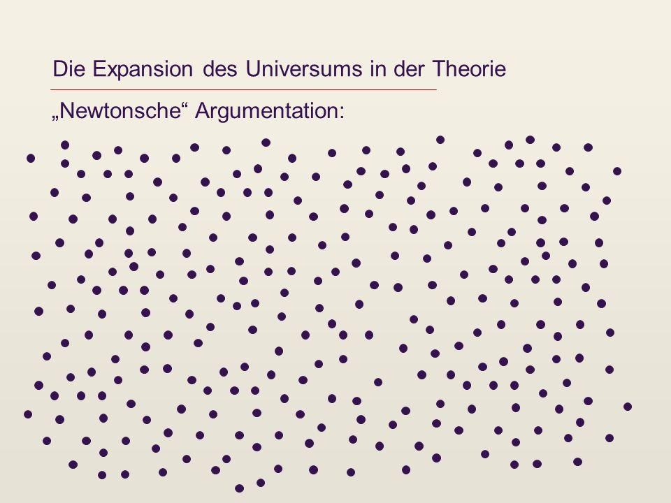 Die Expansion des Universums in der Theorie Newtonsche Argumentation: