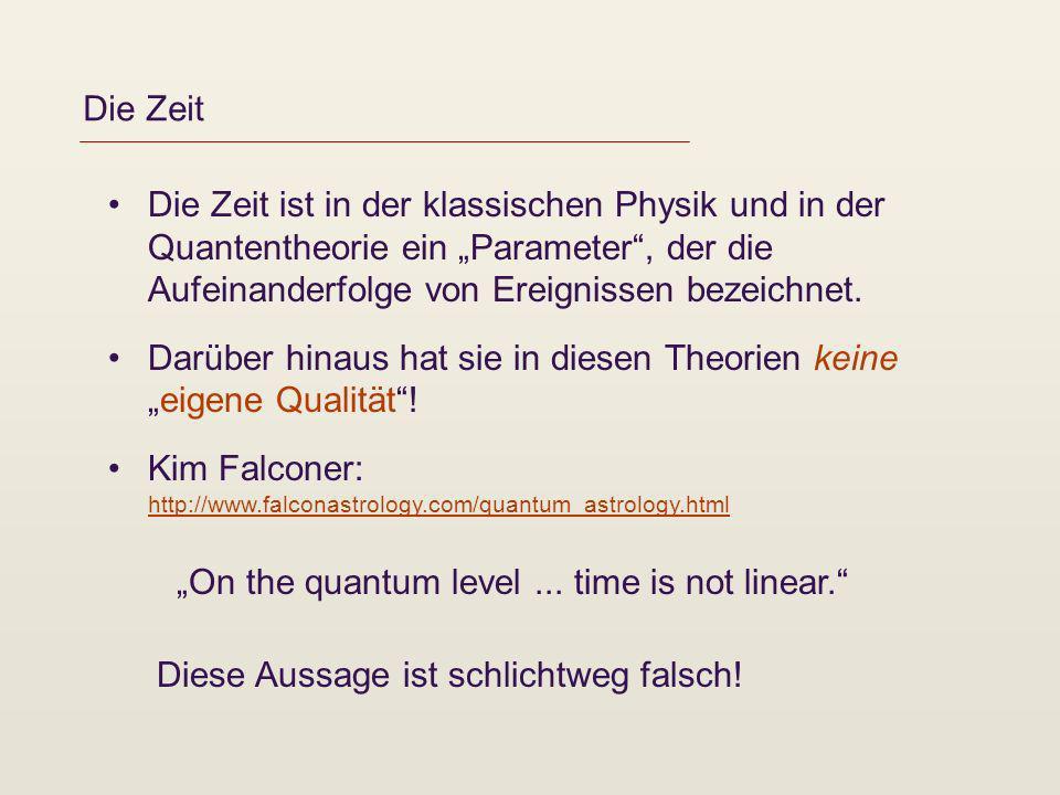 Die Zeit Die Zeit ist in der klassischen Physik und in der Quantentheorie ein Parameter, der die Aufeinanderfolge von Ereignissen bezeichnet. Darüber