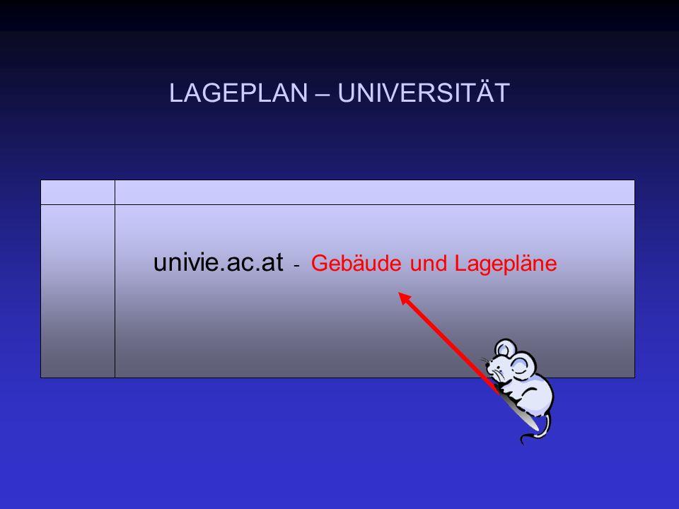 LAGEPLAN – UNIVERSITÄT univie.ac.at - Gebäude und Lagepläne