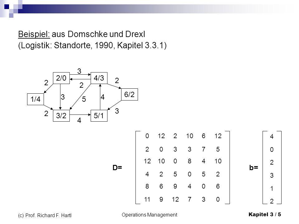 Operations ManagementKapitel 3 / 6 (c) Prof.Richard F.