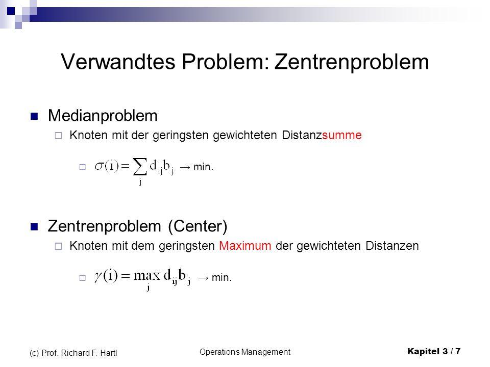 Operations ManagementKapitel 3 / 8 (c) Prof.Richard F.