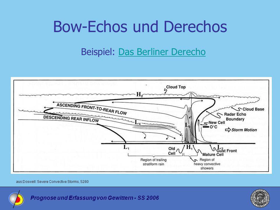 Prognose und Erfassung von Gewittern - SS 2006 Bow-Echos und Derechos Beispiel: Das Berliner DerechoDas Berliner Derecho aus:Doswell: Severe Convectiv