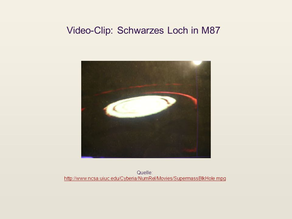 Video-Clip: Schwarzes Loch in M87 Quelle: