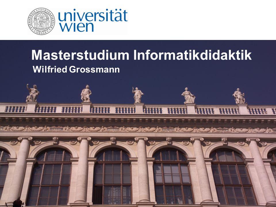 Allgemeiner Hinweis Studium wird gemeinsam mit der TU durchgeführt Module können entweder an der Universität Wien oder der Technischen Universität Wien absolviert werden Abschluss an der Stamm-Universität
